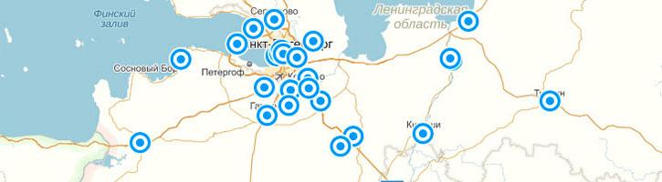Карта церквей